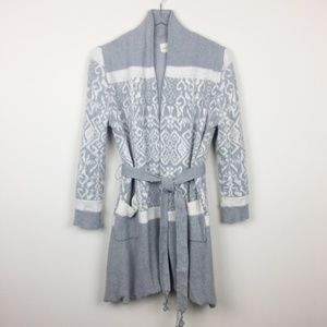Lemon | Comfy Fair Isle Lounge Cardigan Robe
